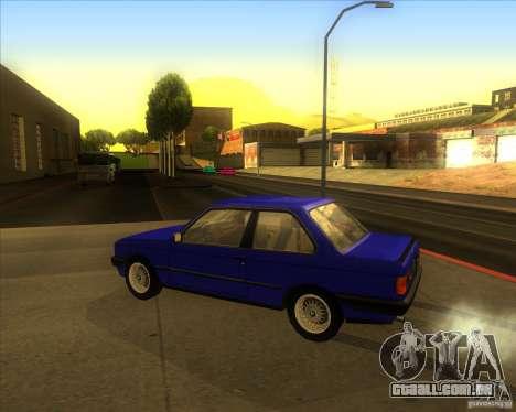 BMW E30 323i para GTA San Andreas esquerda vista
