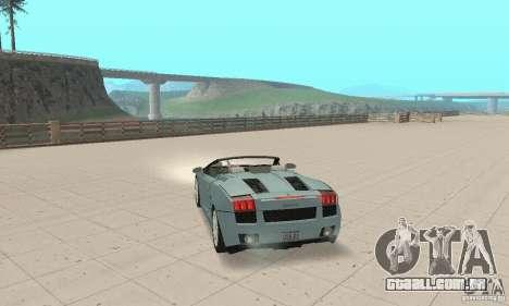 Lamborghini Gallardo Spyder para GTA San Andreas esquerda vista