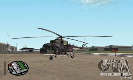 MI-8 Camo cinza para GTA San Andreas esquerda vista