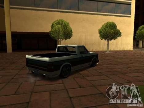 New Tuned Bobcat para GTA San Andreas esquerda vista