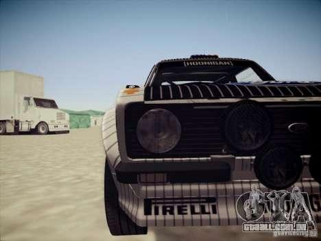 Ford Escort MK2 Gymkhana para GTA San Andreas vista interior