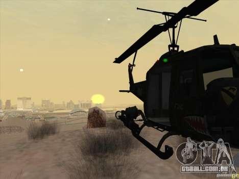 Helicóptero Huey da chamada do dever ops preto para GTA San Andreas vista traseira