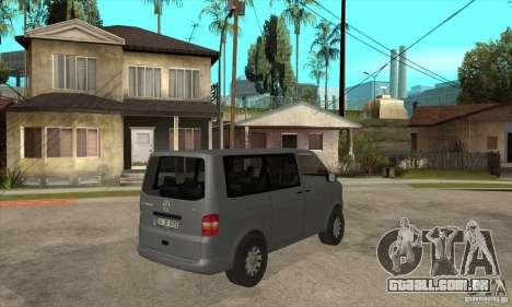 Volkswagen Transporter T5 TDI para GTA San Andreas vista direita