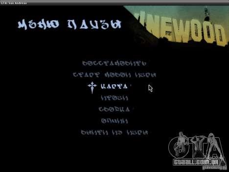 A fonte do NFS MW V2 para GTA San Andreas quinto tela