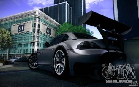 BMW Z4 E89 GT3 2010 para GTA San Andreas vista traseira