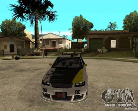 Audi S3 Monster Energy para GTA San Andreas vista traseira