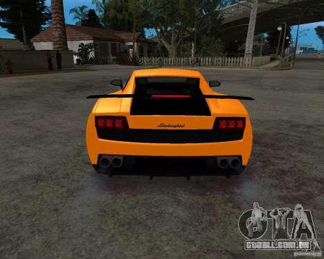 Lamborghini Gallardo LP570 Superleggera para GTA San Andreas vista interior
