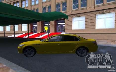 BMW M5 Gold Edition para GTA San Andreas vista interior