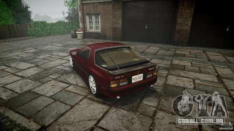 Mazda RX7 FC3S para GTA 4 traseira esquerda vista