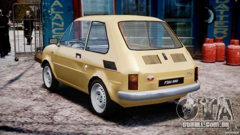 Fiat 126p 1976 para GTA 4 traseira esquerda vista