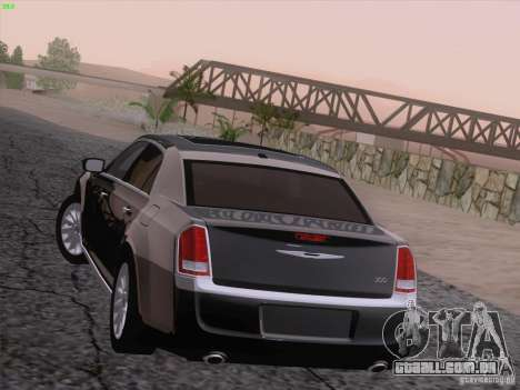 Chrysler 300 Limited 2013 para GTA San Andreas vista inferior