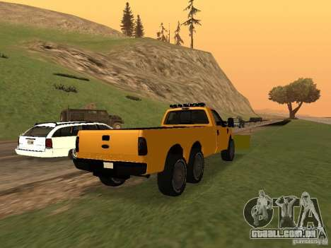 Ford Super Duty F-series para GTA San Andreas traseira esquerda vista