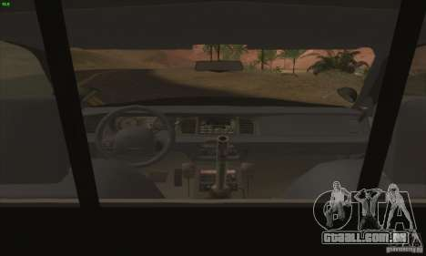 Ford Crown Victoria Florida Police para GTA San Andreas vista direita