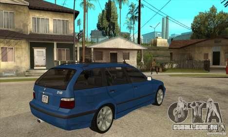 BMW 318i Touring para vista lateral GTA San Andreas