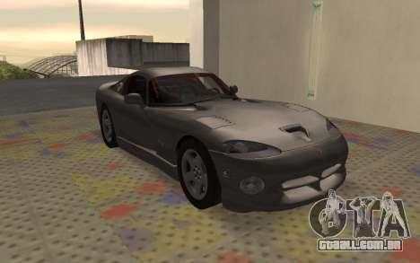 Dodge Viper GTS Tunable para GTA San Andreas esquerda vista