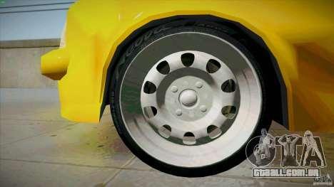 Opel Kadett D GTE Mattig Tuning para GTA San Andreas vista inferior