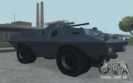 Swatvan com metralhadora para GTA San Andreas terceira tela