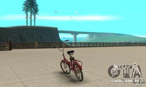 Bicicleta de Kama para GTA San Andreas traseira esquerda vista
