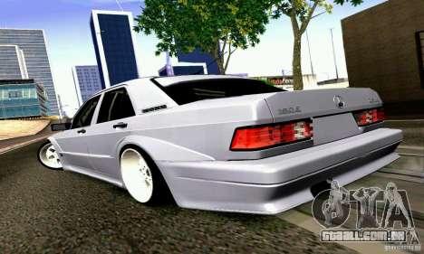 Mercedes-Benz 190E Drift para GTA San Andreas esquerda vista