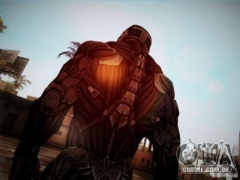 Crysis 2 Nano-Suit HD para GTA San Andreas terceira tela