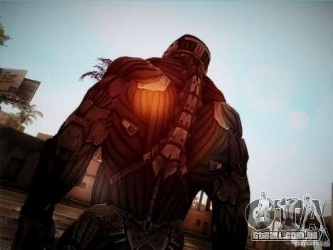 Crysis 2 Nano-Suit HD para GTA San Andreas terceira tela
