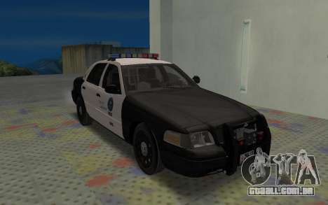 Ford Crown Victoria Police Interceptor LSPD para GTA San Andreas esquerda vista