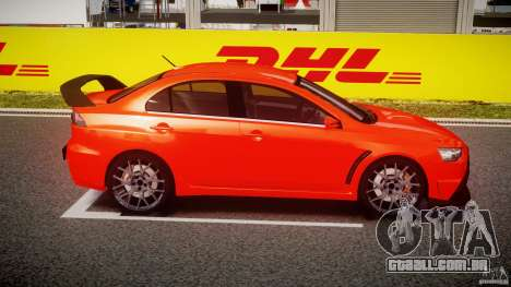 Mitsubishi Lancer Evo X 2011 para GTA 4 vista interior