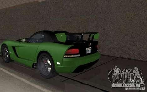 Dodge Viper um pequeno ajuste para GTA San Andreas vista direita