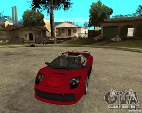 Lamborghini Murcielago SHARK TUNING para GTA San Andreas vista traseira