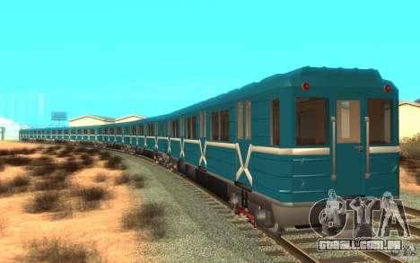 Metro type 81-717 para GTA San Andreas esquerda vista