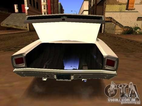 Plymouth GTX 1969 para GTA San Andreas traseira esquerda vista