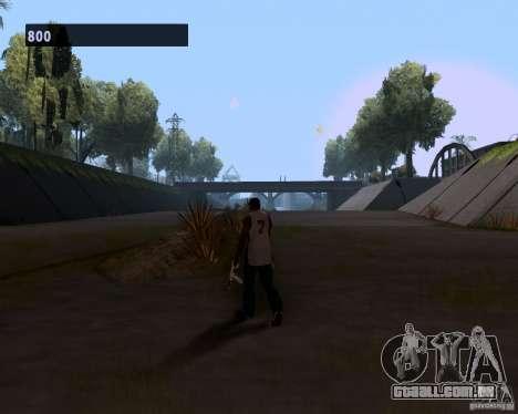 Marcha de gangster para GTA San Andreas por diante tela