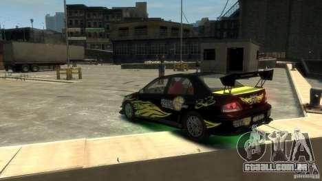 Mitsubishi EVO IX para GTA 4 traseira esquerda vista