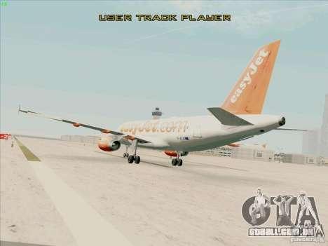 Airbus A319 Easyjet para GTA San Andreas esquerda vista