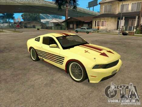 Ford Mustang Jade from NFS WM para GTA San Andreas esquerda vista