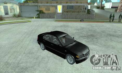 BMW 325i para GTA San Andreas traseira esquerda vista