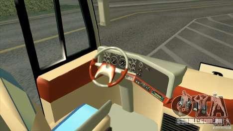 Hino New Travego RK1 para GTA San Andreas vista traseira