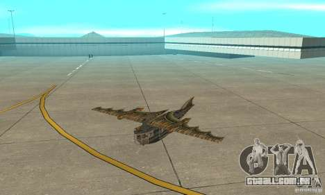 Belo avião de TimeShift para GTA San Andreas esquerda vista