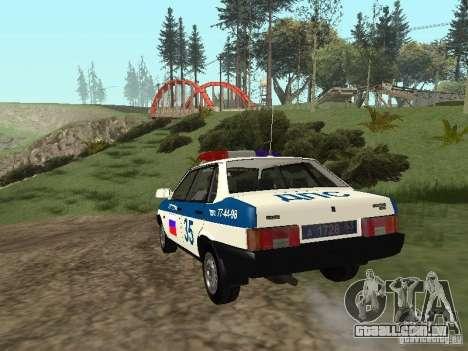 DPS VAZ 21099 para GTA San Andreas traseira esquerda vista