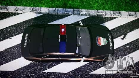 Audi S5 Hungarian Police Car black body para GTA 4 vista direita