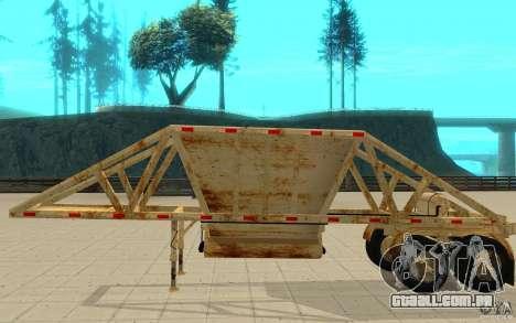 Petrotr trailer 2 para GTA San Andreas traseira esquerda vista