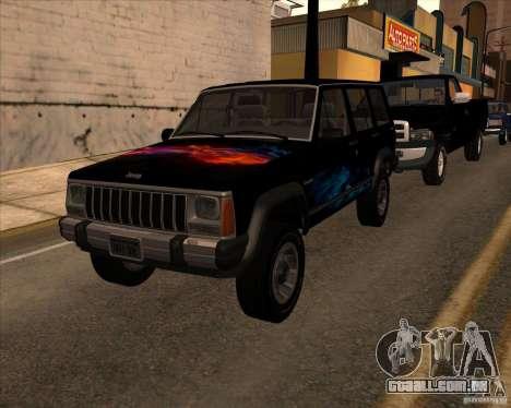 Jeep Cherokee para GTA San Andreas vista direita