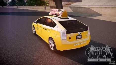 Toyota Prius LCC Taxi 2011 para GTA 4 traseira esquerda vista