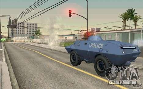 A guarda de BTR para GTA San Andreas por diante tela