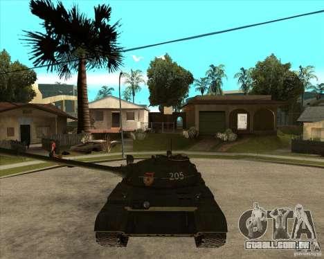 T-55 para GTA San Andreas vista traseira