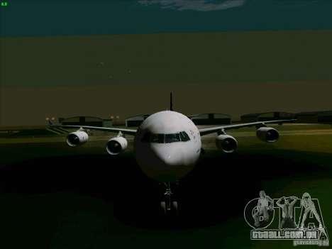 Airbus A-340-600 Singapore para GTA San Andreas vista traseira