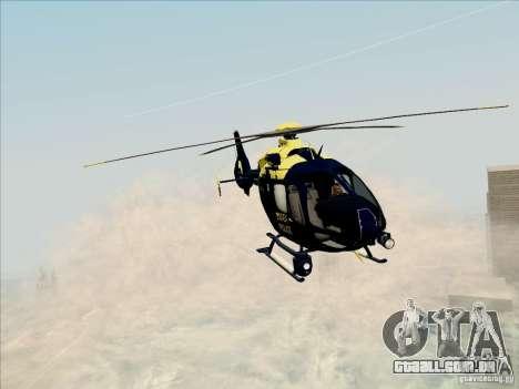 Eurocopter EC-135 Essex para GTA San Andreas traseira esquerda vista