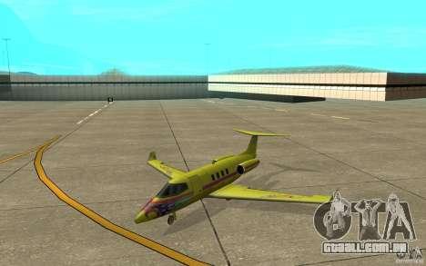 Shamal 1.0 Final para GTA San Andreas esquerda vista