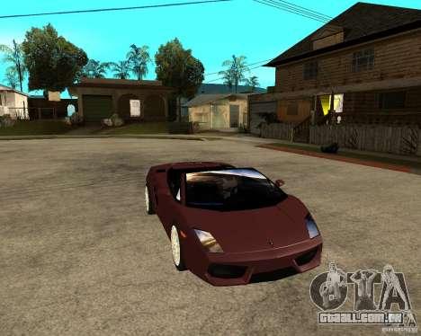 Lamborghini Gallardo LP560-4 Spyder para GTA San Andreas vista traseira