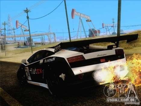 Lamborghini Gallardo LP560-4 GT3 V2.0 para GTA San Andreas vista traseira